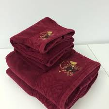 christmas towels best towel set two bath and two towels burgundy christmas