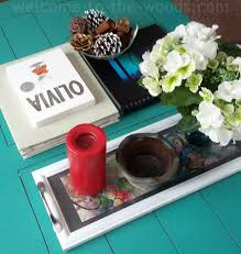 Coffee Table Decor Tray by Picture Frame Tray Welcome To The Woods