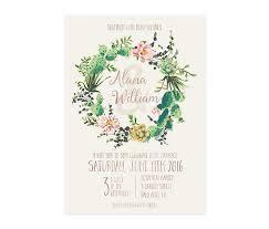 succulent wedding invitations cactus wedding invitation succulents wedding invite printable