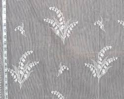 lily of the valley nottingham lace curtain fabric white from brick