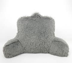 Back Support Cushion For Bed Faux Fur Bed Back Support Tv Dorm Lounger Bedrest Plush Cushion