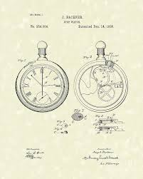 stop watch 1886 patent art drawing by prior art design