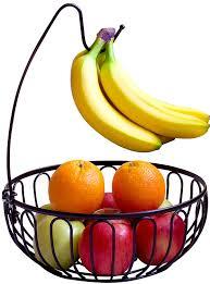 modern fruit holder amazon com decobros wire fruit tree bowl with banana hanger