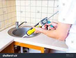 how to recaulk kitchen sink fix cracked old caulk from kitchen bathroom sink large h recaulking