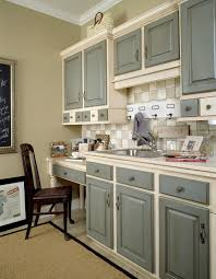 White Kitchen Cabinets With Glaze by Grey Kitchen Cabinets Two Tone Grey Basecoat With Chocolate