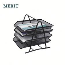 2 Tier Desk by Metal Wire Mesh 2 Tier Desk Organizer A4 Document Tray File Tray