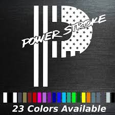 Flag It Stickers 11 Tall American Flag Powerstroke P Decal Sticker Ford