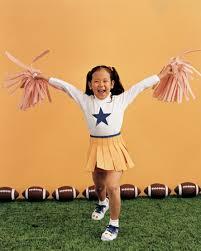 Kids Cheerleader Halloween Costume Cheerleader Sew Felt Skirt Decorated Shirt Sew Felt