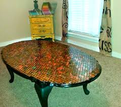 Copper Top Coffee Table Copper Top Penny Coffee Table Diy Mommy Moonblossom