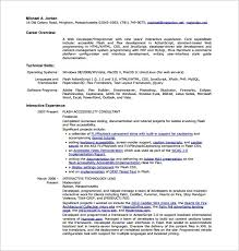 web developer resume web developer resume template 10 free word excel ps pdf format
