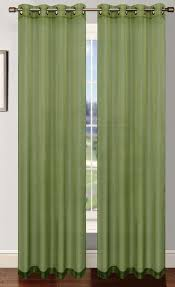 sage green platinum sheer voile curtain with grommets moshells