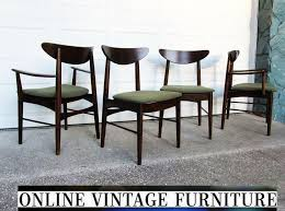 RESTORED S Chairs By Stanley Furniture Vintage Mid - Stanley dining room furniture