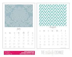 free printable 2016 chic desktop calendar the creativity exchange july august
