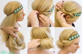 elastic hair band hairstyles ideas about cute ways to style hair cute hairstyles for girls