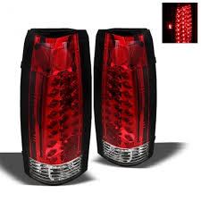 1998 chevy silverado tail lights chevy silverado 1988 1998 red and clear led tail lights