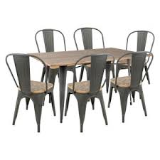 distressed u0026 industrial style kitchen and dining room table sets