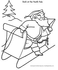 christmas santa coloring christmas santa north pole