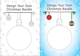 design your own bauble template free early years u0026 primary
