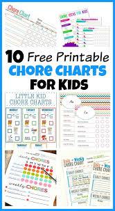 25 printable chore chart ideas chore charts