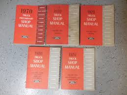 1970 ford truck original shop manual 6 volume set light medium