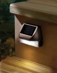 Solar Lamp Post Lights Outdoor by Moonrays 95028 Mini Solar Deck Light Wall Mount Sconce Rectangle