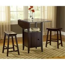 Drop Leaf Pub Table Drop Leaf Pub Wih Stools 3pc