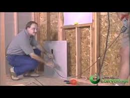 how to run cable through wall demonstration home cabling