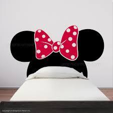 minnie mouse ears with bow headboard kids wall decals graphicsmesh minnie mouse ears with bow headboard kids wall decals