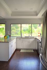 kitchen remodel with white paint