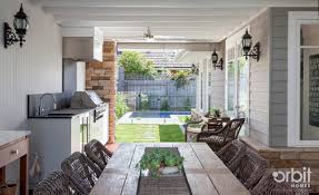 hamptons alfresco area perfect for entertaining custom design by