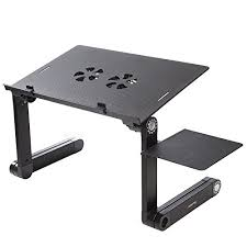 Computer Desk Stand Readaeer Portable Adjustable Foldable Laptop Computer Desk Stand