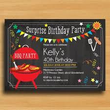 Backyard Birthday Party Invitations by Bbq Birthday Invitation Chalkboard Backyard Surprise Par
