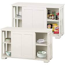 antique white kitchen storage cabinet yaheetech 2pcs stackable buffet table with sliding doors and adjustable shelf inside small space sideboard console table storage cabinet space saving