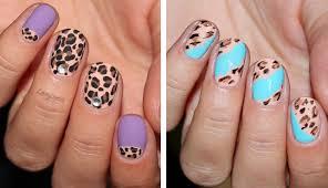 2 leopard print nail designs cute and elegant youtube