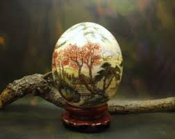 painted ostrich eggs painted ostrich egg etsy