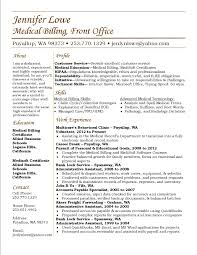 Examples Of Work Resumes by Jennifer Lowe Resume Medical Billing Resume Career Medical