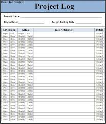 project log template log template word 7 free project log