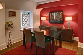 20 choices of modern wall art for dining room wall art 20 fab red accent walls in dining rooms home design lover