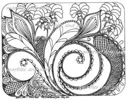 six abstract coloring pages with hearts flowers and more