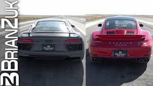 lexus vs audi r8 half mile dig racing u2013 audi r8 vs porsche 991 dragtimes com