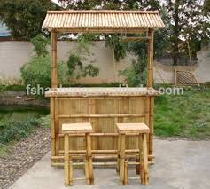 Tiki Patio Furniture by Outdoor Bamboo Counter Tiki Bar Table Chair Stool Set Buy Bamboo