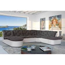 canapé d angle gris et blanc pas cher canapé modulable grand angle scala comparer avec touslesprix com