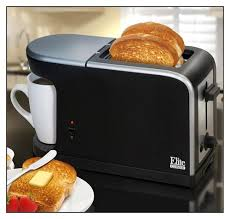 Elite Cuisine 4 Slice Toaster Oven Elite Cuisine 2 In 1 Dual Function Breakfast Station Ect 819