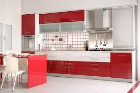 Red Kitchens by Kitchen Sleek Kitchen Cabinets Within Red Kitchen Design Nice