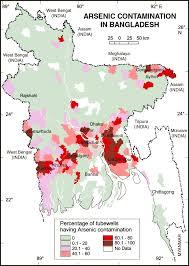 Map Of Bangladesh Arsenic Contamination Map Of Bangladesh