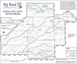 Big Bend Map Big Bend Gmd 5 District Map