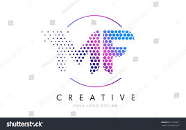 mf m f pink magenta dotted stock vector 619228877 shutterstock
