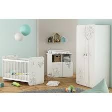 chambre bébé complète 3 pièces lit 60x120 cm armoire