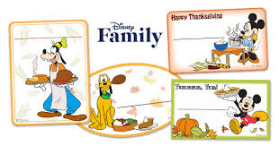 mickey friends thanksgiving food labels