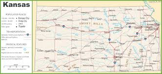 Map Topeka Ks Kansas Highway Map